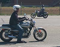 Students learn during a street rider lesson