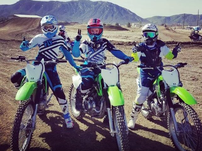Women ride motorcross