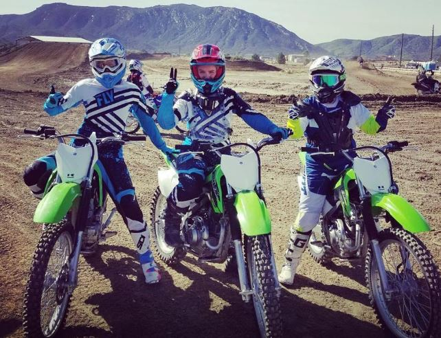 Women ride motorcross