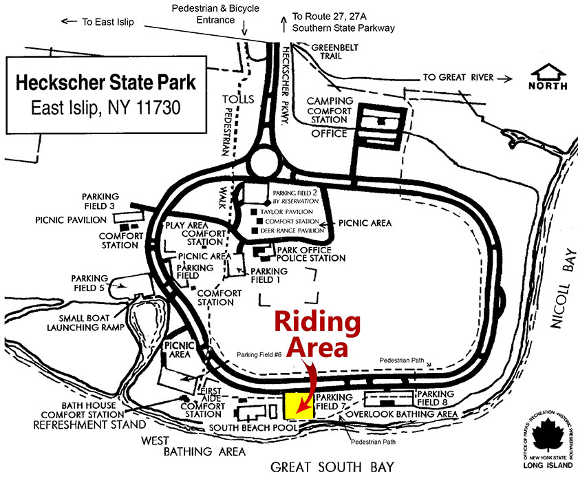 Our riding location at Field 7 in Heckscher State Park